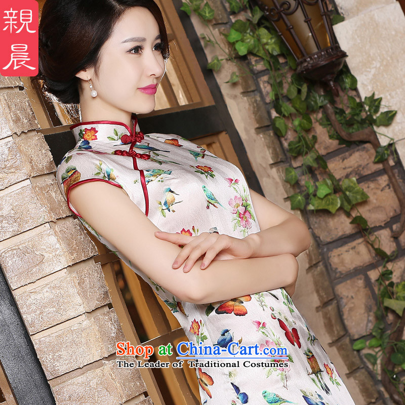 At 2015 new pro-silk herbs extract improved daily dress short of retro temperament Foutune of Qipao Sau San short)?3XL
