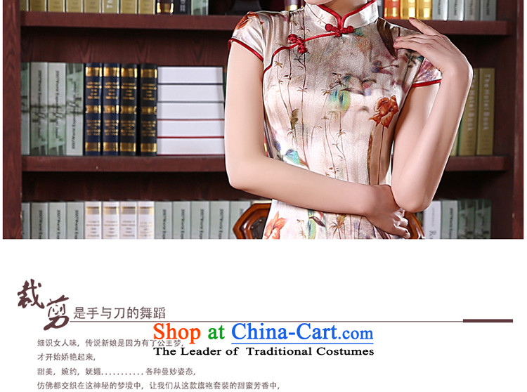 At 2015 new pro-silk cheongsam dress up the skirt of spring and summer load retro herbs extract routine and the relatively short time, improved聽3XL picture, prices, brand platters! The elections are supplied in the national character of distribution, so action, buy now enjoy more preferential! As soon as possible.