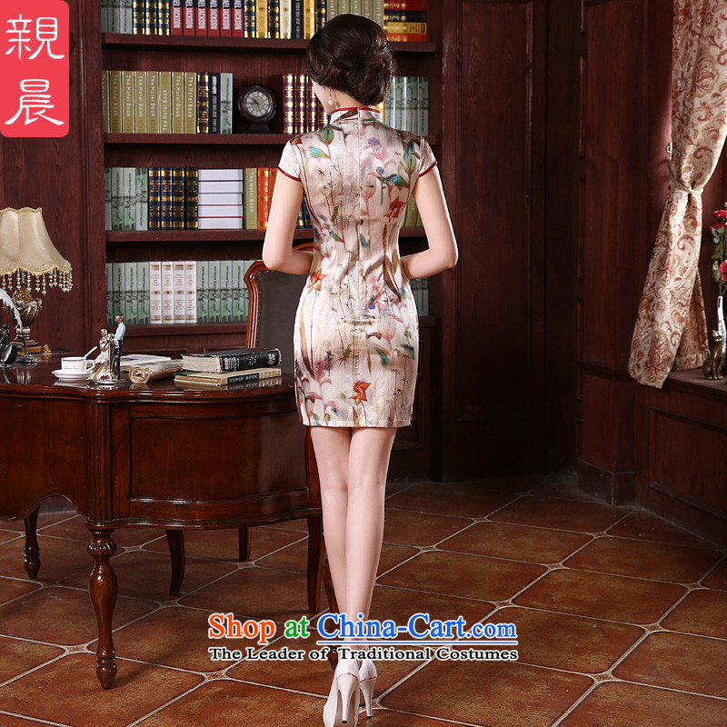 At 2015 new pro-silk cheongsam dress up the skirt of spring and summer load retro herbs extract routine and the relatively short time, improved聽3XL, pro-am , , , shopping on the Internet