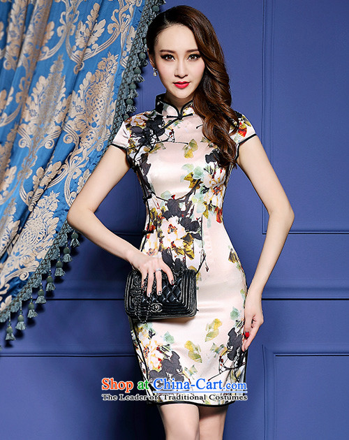 The Aileu degrees 2015 New Silk Cheongsam dress emulation ink stamp graphics package thin and dresses NA16-2_8042 SUIT聽XS picture, prices, brand platters! The elections are supplied in the national character of distribution, so action, buy now enjoy more preferential! As soon as possible.