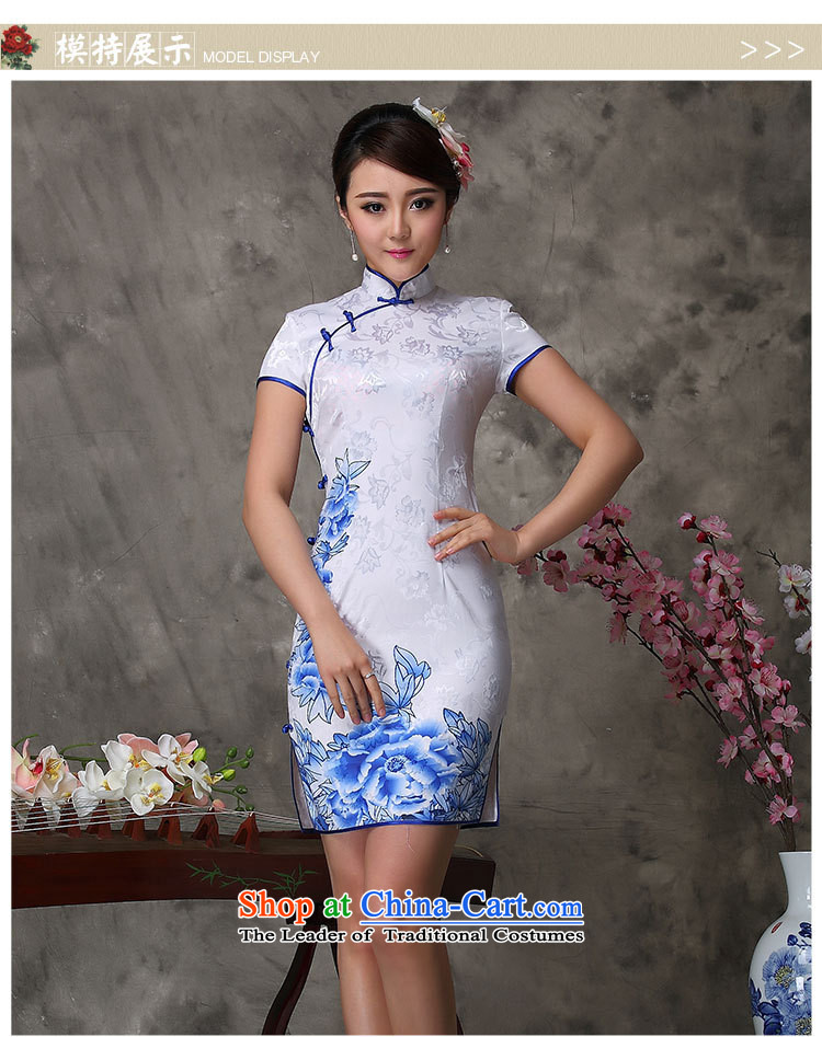 Qipao summer new Chinese qipao daily retro retro short stylish White XXL pictures, qipao price, brand platters! The elections are supplied in the national character of distribution, so action, buy now enjoy more preferential! As soon as possible.