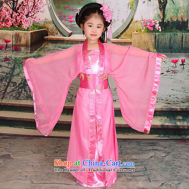 Time Syrian sweet small prey Li ancient clothing Princess Gwi-loaded girls costumes and Tang dynasty Han-floor, 7 children's wear skirts pink聽150cm tall fairies recommendations appears at paragraphs 145-155