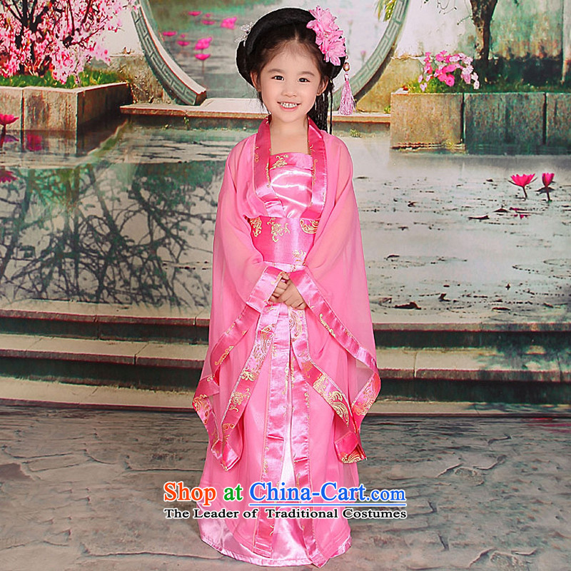 Time Syrian sweet small prey Li ancient clothing Princess Gwi-loaded girls costumes and Tang dynasty Han-floor, 7 children's wear skirts pink 150cm tall fairies 145-155, recommended time Syrian shopping on the Internet has been pressed.