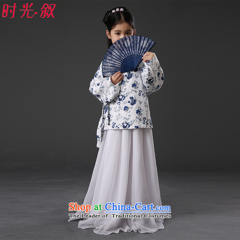 The Syrian children in early childhood princess hour service Tang dynasty princess track national civil administration show costumes Stage Drama Han-women's clothing girls skirt fairies princess service聽130CM