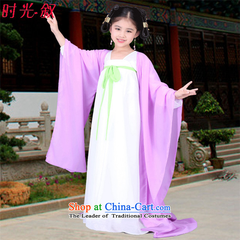 The Syrian children ancient costumes time girls fairies replacing will replace the princess, Tang Gwi-serving a seven fairy tail skirt Ha Hon services for women clothes skirt fairies princess light purple?150CM