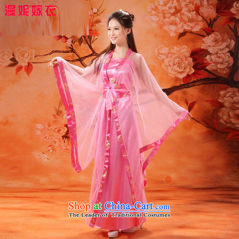 Time Syrian costume clothing fairies Han-women and sexy queen's women COS theatrical serving a seven-Gwi-loaded guzheng fairies belt and skirt Halloween pink燬
