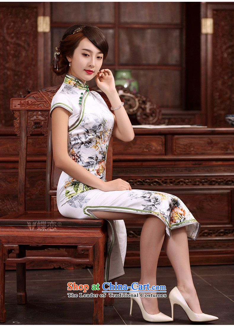 The Butterfly Lovers 2015 Summer new improved stylish long cheongsam dress Sau San retro daily Silk Cheongsam as shown Tang dynasty聽M picture, prices, brand platters! The elections are supplied in the national character of distribution, so action, buy now enjoy more preferential! As soon as possible.