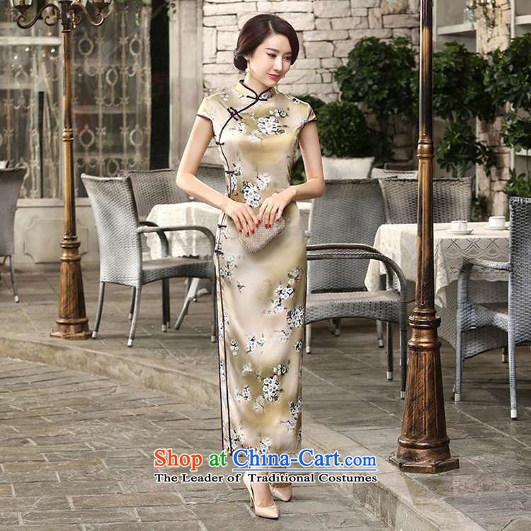 In accordance with the fuser summer trendy new of daily retro silk dresses short-sleeved long double TANG Sau San replacing cheongsam dress聽Lgd/c0013# -A card whose聽XL Photo, prices, brand platters! The elections are supplied in the national character of distribution, so action, buy now enjoy more preferential! As soon as possible.