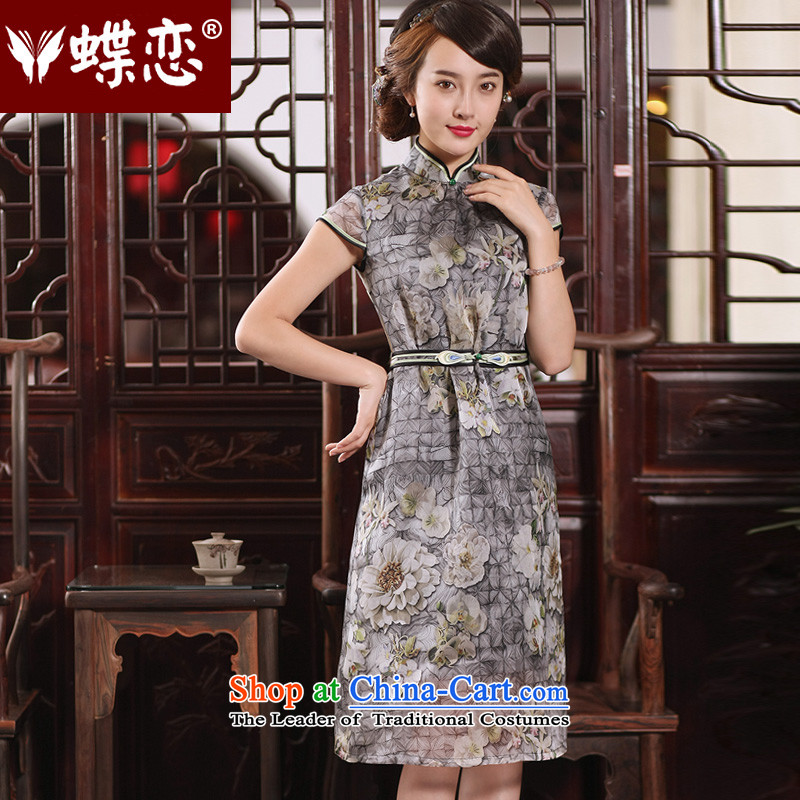 The Butterfly Lovers 2015 Summer New China wind silk dresses retro improved qipao figure聽S