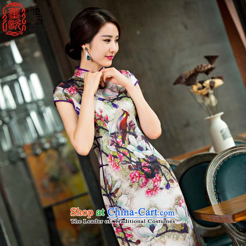 If the smoke ? ink�15 new improved qipao summer daily in long skirt Fashion cheongsam dress qipao燪D220 M