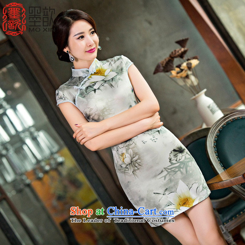 I should be grateful if you would have the next generation of燪ipao ? 2015 skirt new fall inside the daily qipao improved Sau San cheongsam dress summer爌icture color燤 244 QD