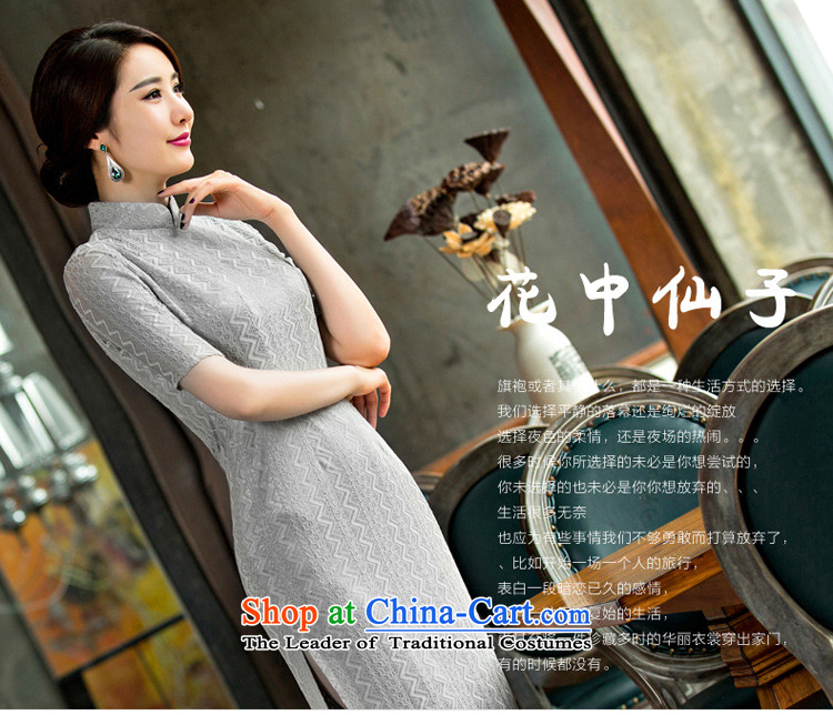 The ink on the day-to-day 2015 歆 Pui long qipao improved lace retro cheongsam dress the new summer cheongsam dress dressesQD 247Light Gray2XL Photo, prices, brand platters! The elections are supplied in the national character of distribution, so action, buy now enjoy more preferential! As soon as possible.