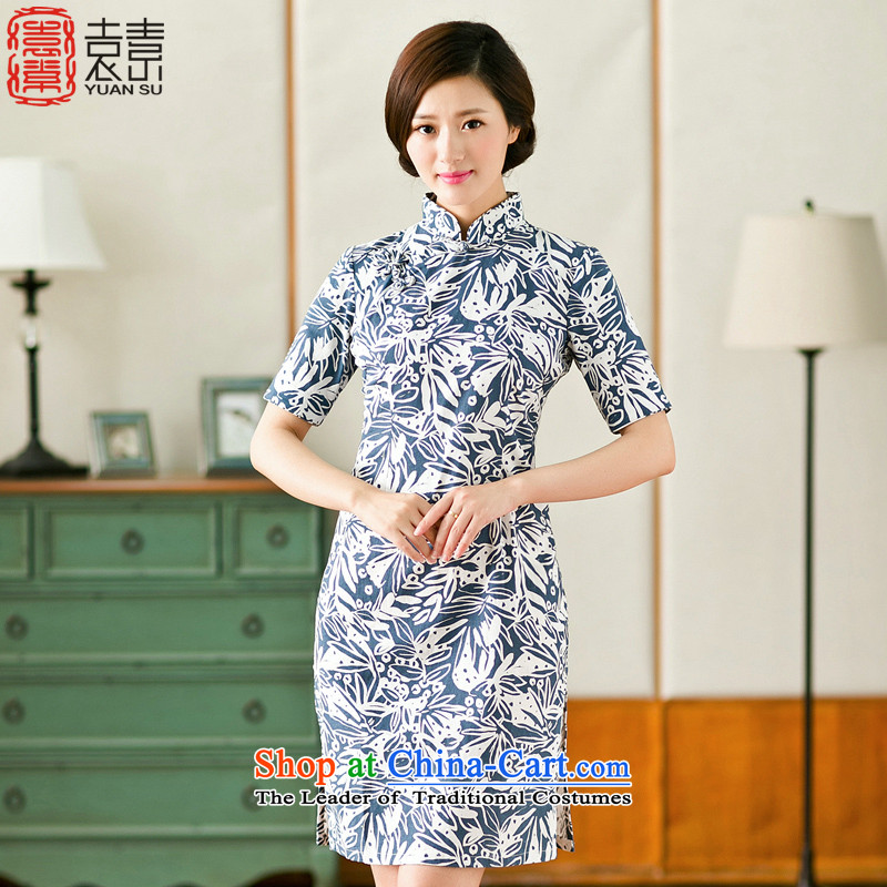 Mr Yuen so included new maple cheongsam dress qipao summer daily improved cotton linen ethnic women燳S燬UIT燲L