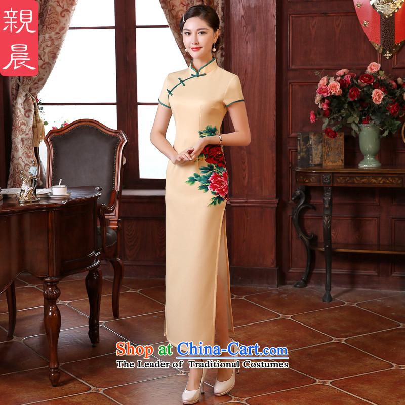 The pro-am-to-day summer retro look stylish Ms. improved long wedding dresses cheongsam dress etiquette gift clothing long燲L