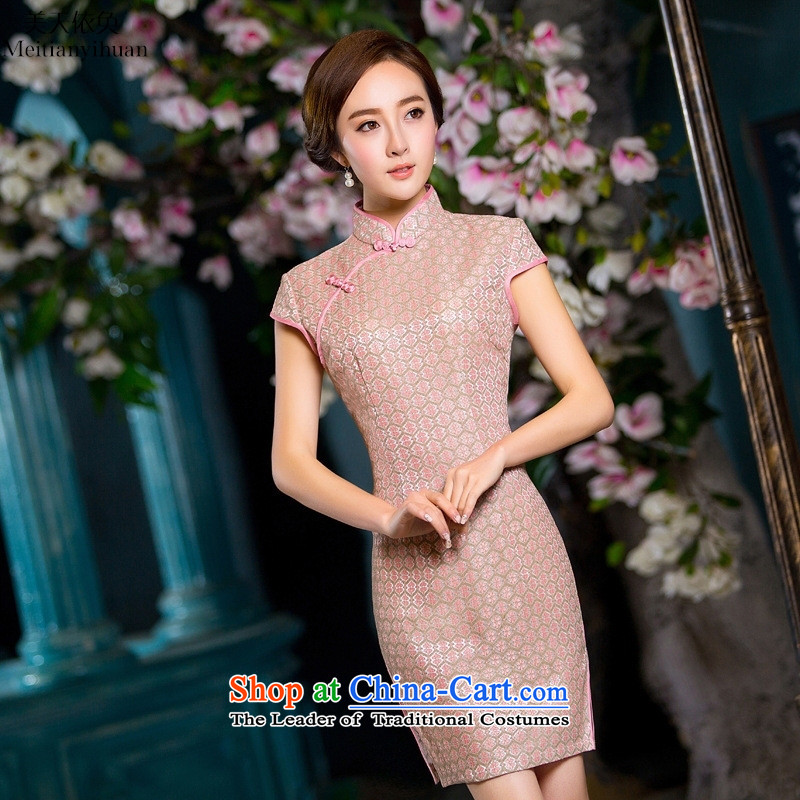 The cheongsam dress 2015 Spring_Summer new graphics thin daily qipao Sau San short, lace cheongsam picture color燤