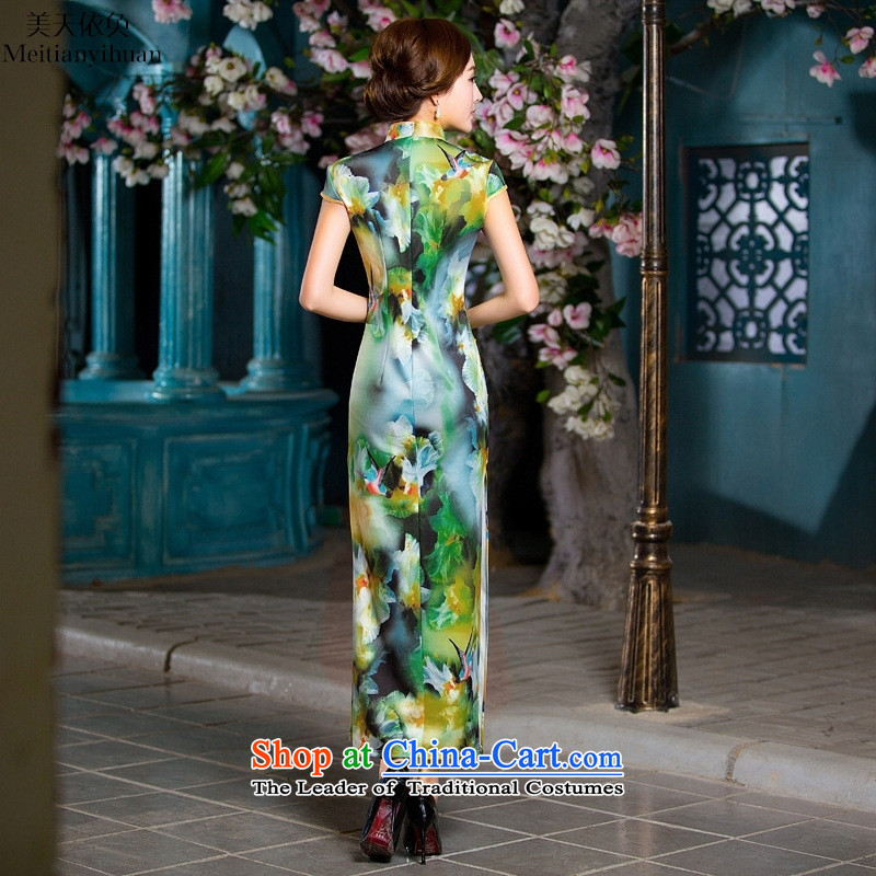 2015 New Long qipao retro sexy qipao dresses cheongsam dress photo colorM-day in accordance with the property (meitianyihuan) , , , shopping on the Internet