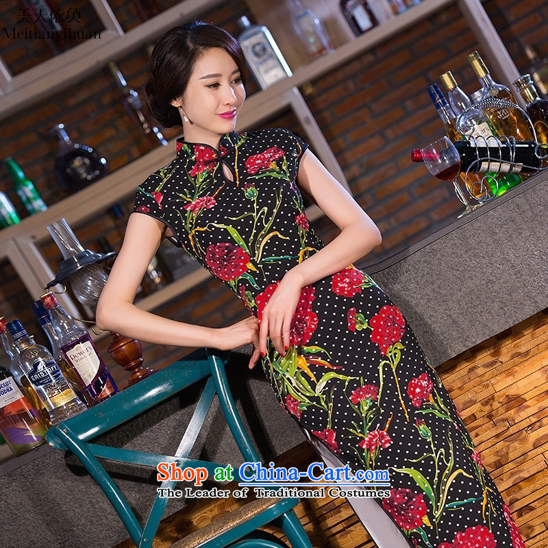 2015 new daily, qipao long cheongsam look large composite banquet with skirt picture color�XXL