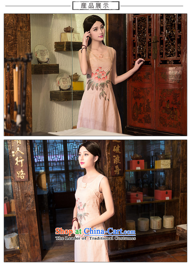China Ethnic classic new spring and summer, improved daily linen qipao antique dresses video thin elegance Sau San and pink XXL picture, prices, brand platters! The elections are supplied in the national character of distribution, so action, buy now enjoy more preferential! As soon as possible.