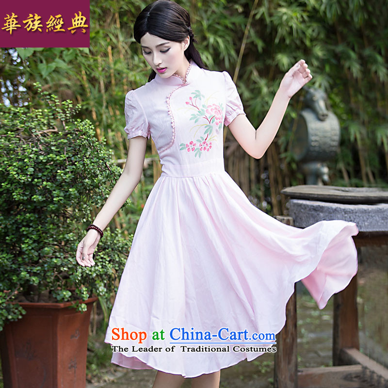 China Ethnic classical fashion improved summer qipao dresses daily retro Sau San video thin elegance cheongsam dress toner DOI燬