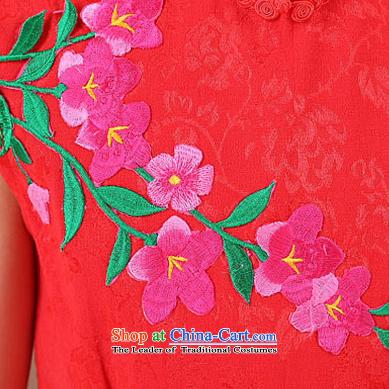 In line flower girl children cloud qipao gown skirt girls guzheng MT51341  140cm, red-clothing line (youthinking cloud) , , , shopping on the Internet