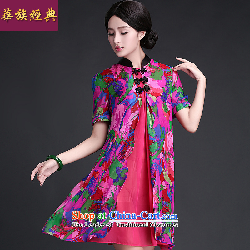 China Ethnic classic 2015 Summer New Stylish retro improved China qipao wind daily elegant cheongsam dress suit燲L