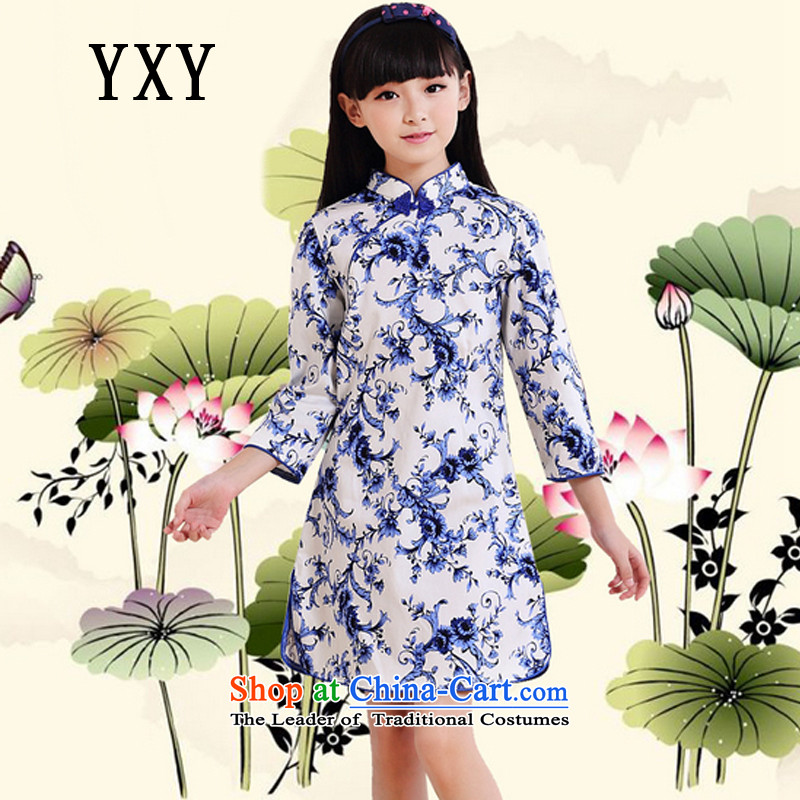 The Cloud's stake of children's wear girls cotton improved cheongsam dress vests children dresses燤T51601爌orcelain�0cm,