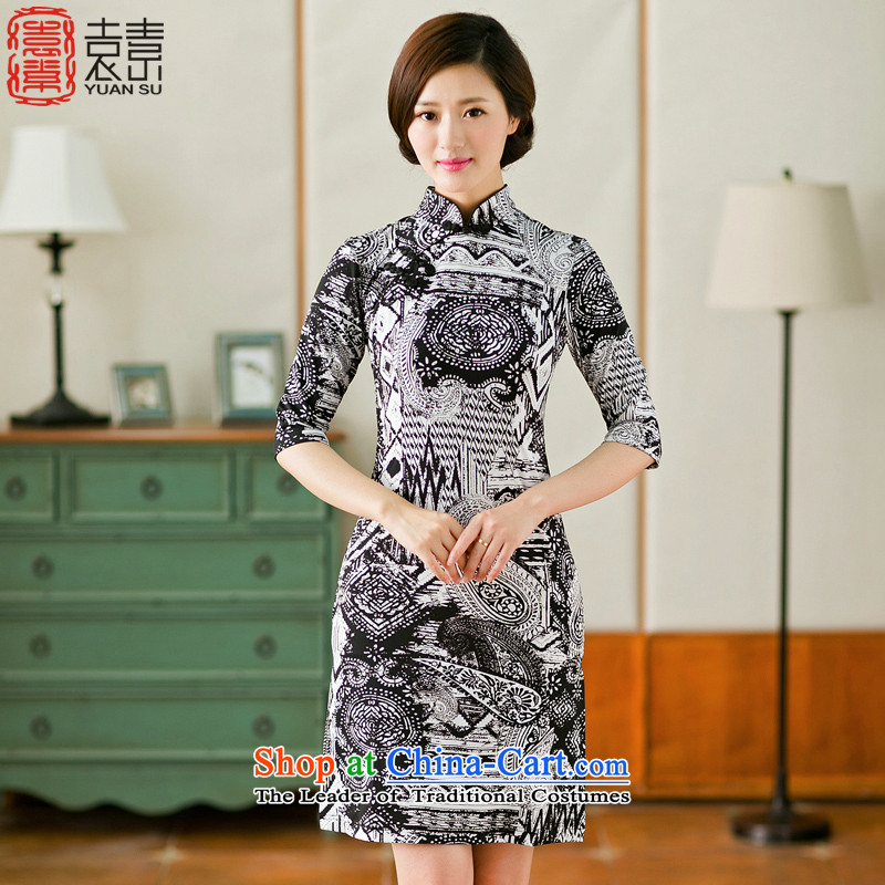 Yuan of things of ethnic women ancient clothing qipao retro improved daily cheongsam dress new燳S牋S Suit