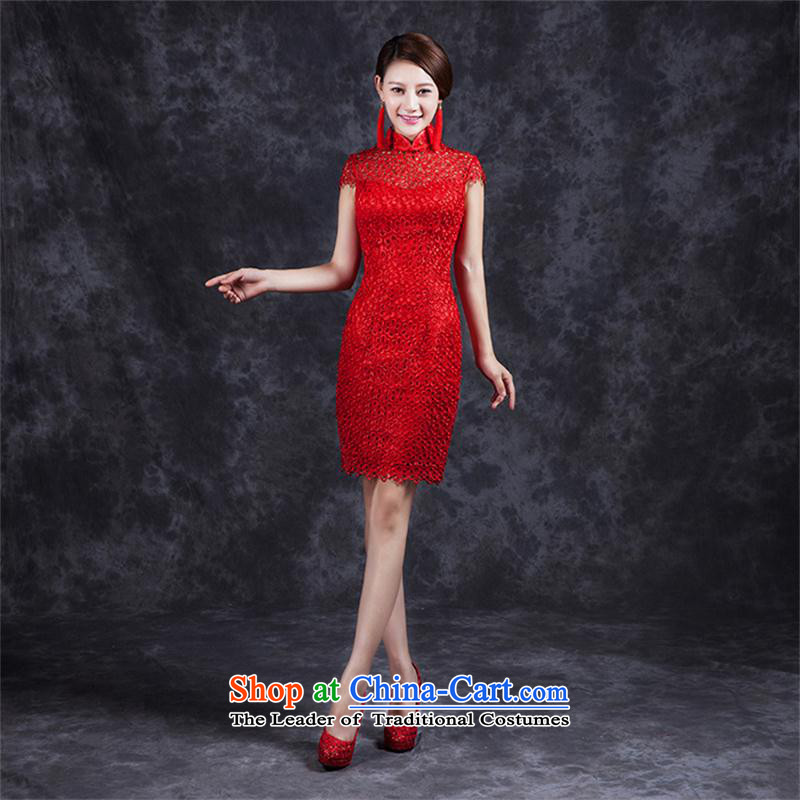 Ya Arts Workshop 2015 Summer bows services wedding dresses marriage improvement bride red sexy package and packaged QP479 qipao red red?L