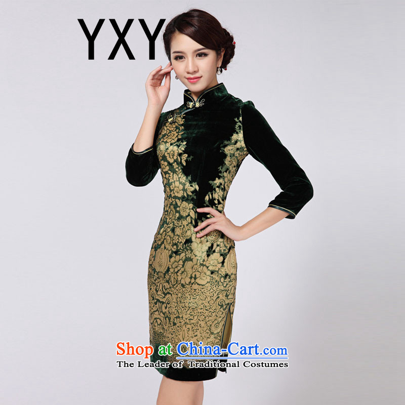 In line cloud dresses cheongsam dress suit China wind retro qipao skirt short of Qipao RXA808 short-sleeved燲XXL