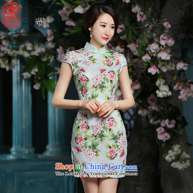 The�2015 Summer Scent ? Ling new packages are short of qipao daily fashion sweet short-sleeved Sau San dresses�ZA701 S
