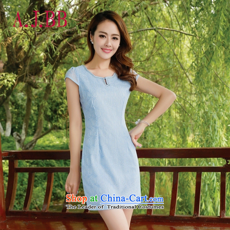 Only the 2015 summer attire vpro new qipao retro look Ms. video thin stylish improvements Sau San pink燲XXL