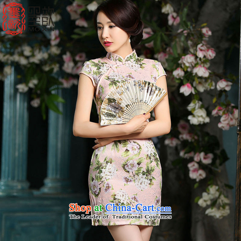 Ink Paintings daily improvements � deplored qipao short-sleeved Stylish retro dresses Sau San gentlewoman wind up tour photo?color pictures of the Mandatory ZA702?XL