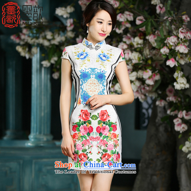 The 2015 summer ? of FPC new ethnic characteristics of stamp retro Ms. qipao short of daily improvement of Sau San dresses ZA711 2XL