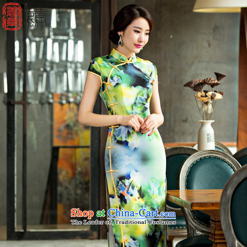 Yuan of?autumn 2015 Spring Conf resides with the new improved daily retro qipao skirt long cheongsam long qipao in Sau San?QD221?SUIT?S