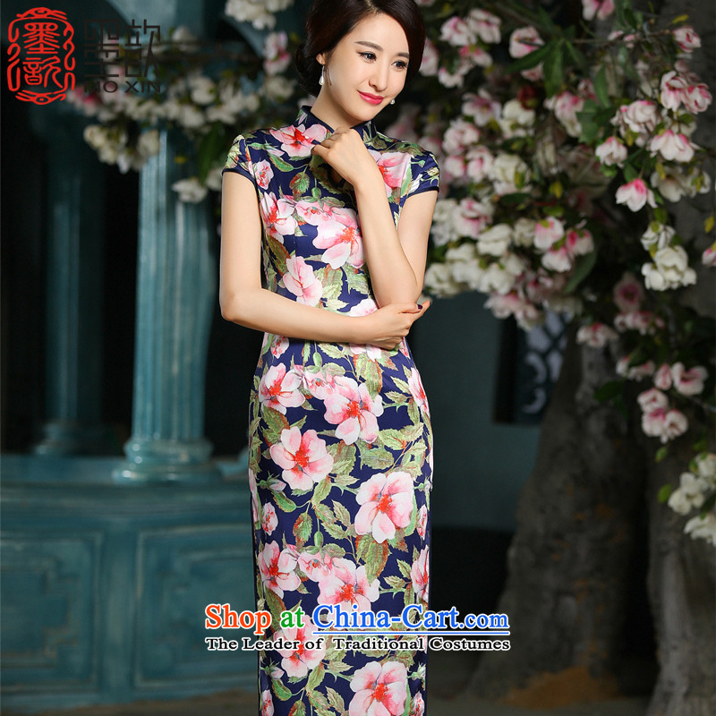 The first true�15 new ? of daily improved long thin stylish Ms. qipao graphics cheongsam dress燴A713燬UIT燣