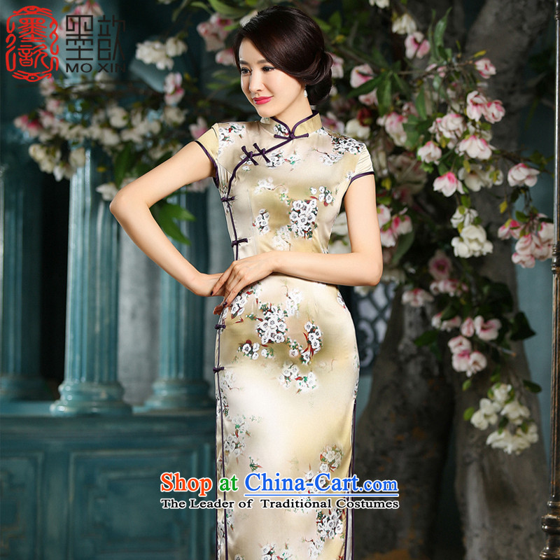 The print image snow daily improvements � long thin cheongsam Ms. Sau San video temperament cheongsam dress suit?ZA714 L