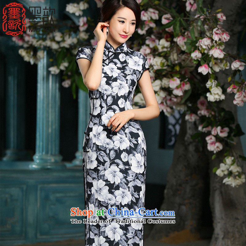 The new 2015 Winter Ling 歆 of daily improved long thin qipao known video     of qipao skirt ZA715 Ms. S
