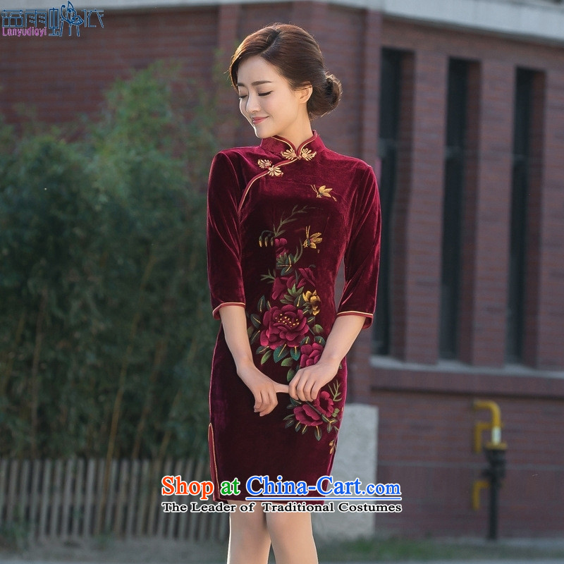 Qipao skirt 2015 spring outfits of nostalgia for the daily life of the Cuff scouring pads banquet in long mother qipao replace figure M