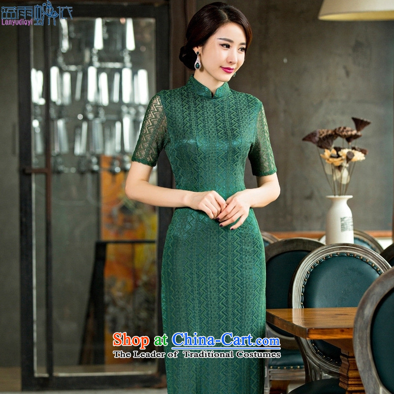 2015 new cheongsam dress summer lace retro cheongsam dress qipao Template Characteristics of Sau San燲L