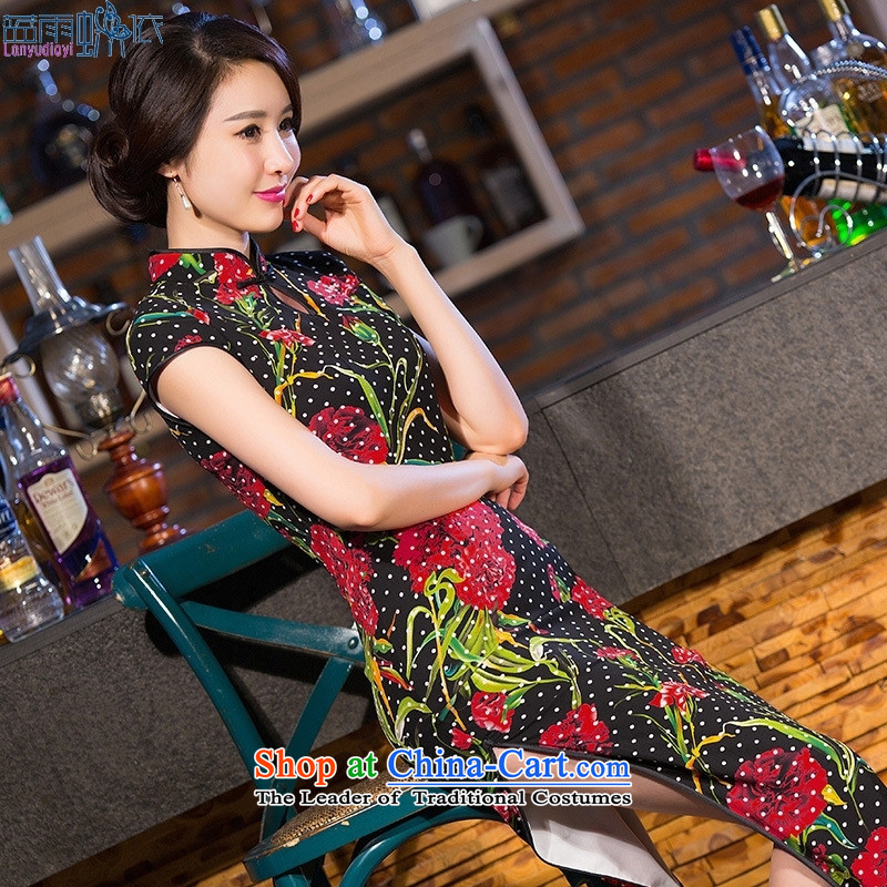 The spring of 2015 New cheongsam dress daily high on women's dresses long skirt performances cheongsam dress Template Characteristics燬