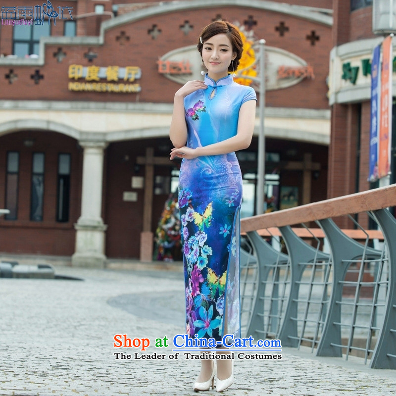 Summer 2015 New Stylish retro qipao and sexy republic of korea long skirt Fashion as figure燤