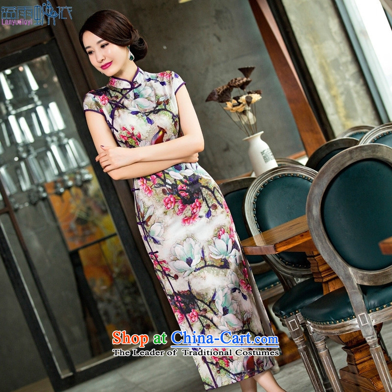2015 Long Female qipao summer new air layer dress cheongsam dress retro dresses picture color燣