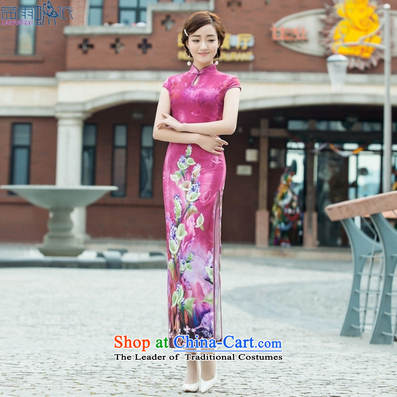 2015 new stylish Sau San republic of korea long retro, daily banquet qipao cheongsam dress figure S