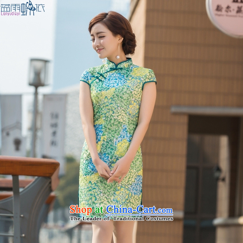 Summer 2015 new daily conforms cheongsam look like embroidery qipao Sau San dresses figure燣
