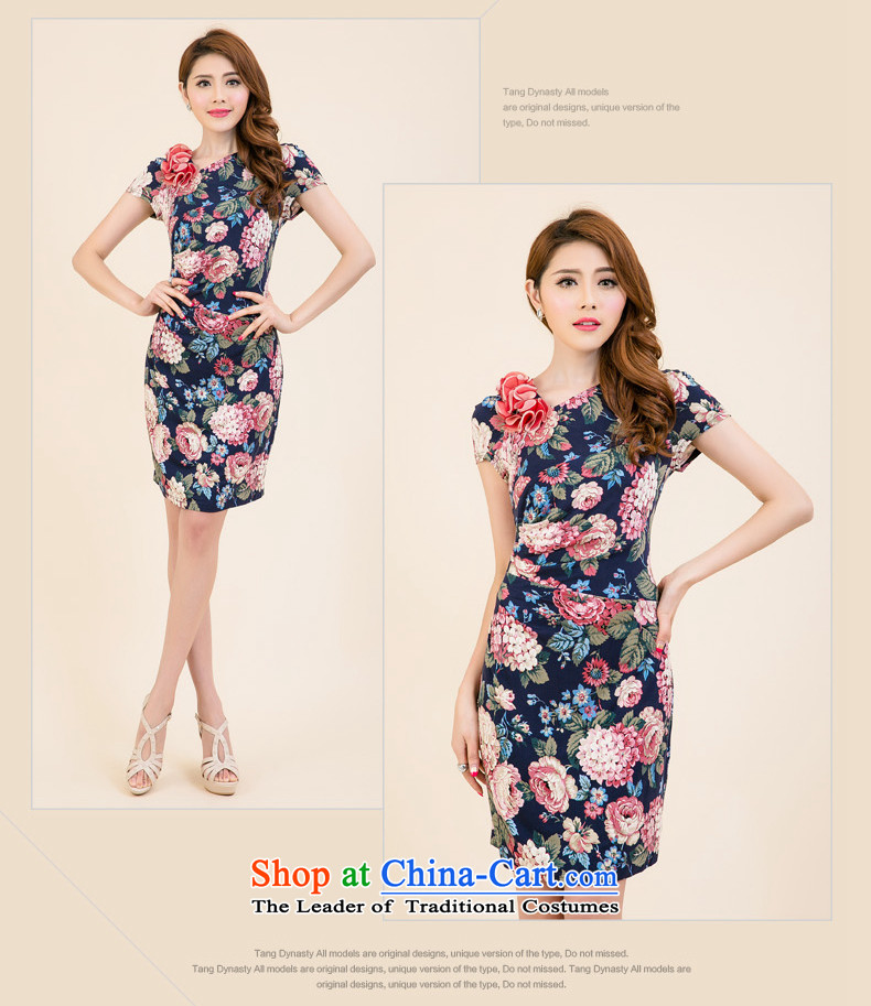 The Tang dynasty聽Summer 2015 new products in women's original ladies dress female TXF40688A PO BLUE ROSE聽XL Photo, prices, brand platters! The elections are supplied in the national character of distribution, so action, buy now enjoy more preferential! As soon as possible.