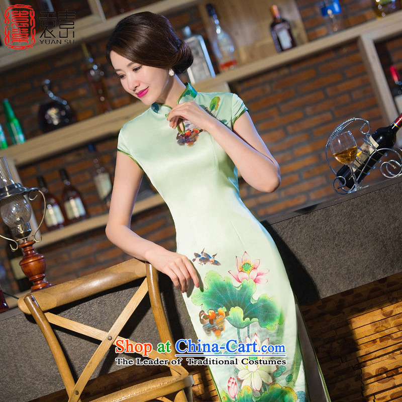 Yuan of alienation shadow qipao 2015 new retro temperament improved cheongsam dress summer high on the forklift truck cheongsam dress聽QD238聽SUIT聽L