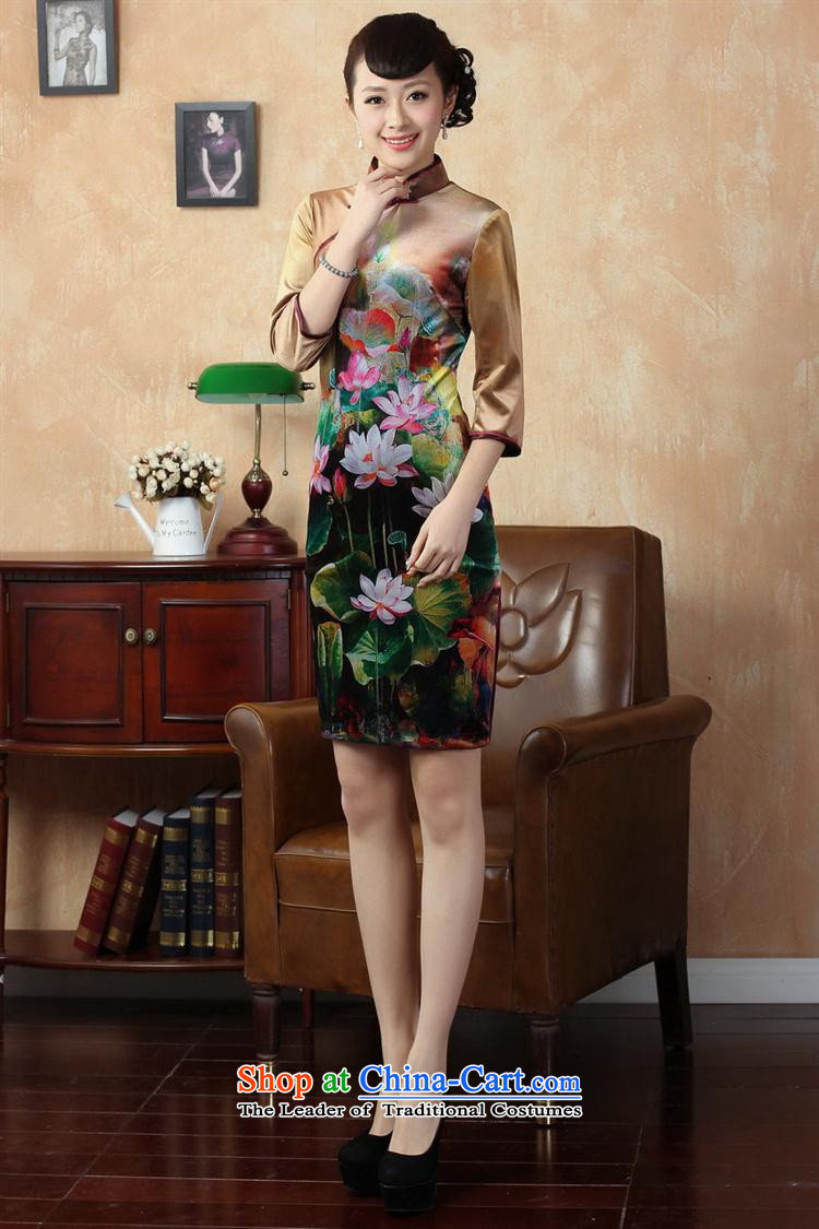 Tang Dynasty qipao Stretch Wool poster stylish Kim in classic short-sleeved qipao picture color聽S picture, prices, brand platters! The elections are supplied in the national character of distribution, so action, buy now enjoy more preferential! As soon as possible.