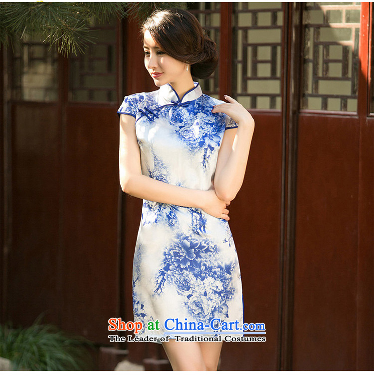 The new paragraph recalls that 歆 summer porcelain stamp cheongsam dress Short-Sleeve Mock-Neck improved Sau San video thin cheongsam dress suit XL Photo ZA 050, prices, brand platters! The elections are supplied in the national character of distribution, so action, buy now enjoy more preferential! As soon as possible.