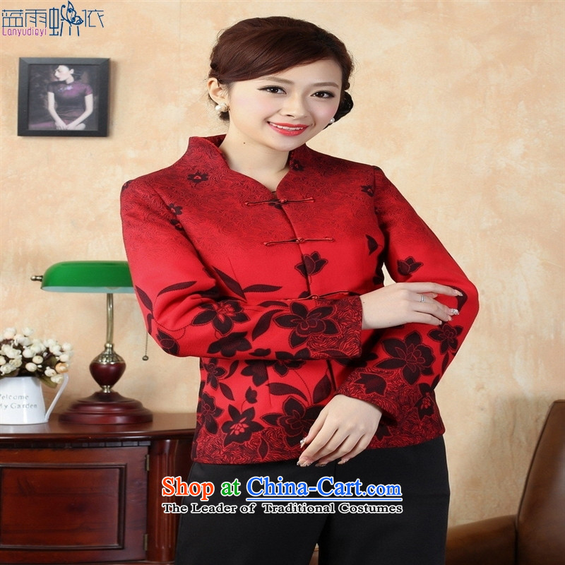 Tang dynasty qipao winter Tang Dynasty 7 red , L, blue rain butterfly according to , , , shopping on the Internet