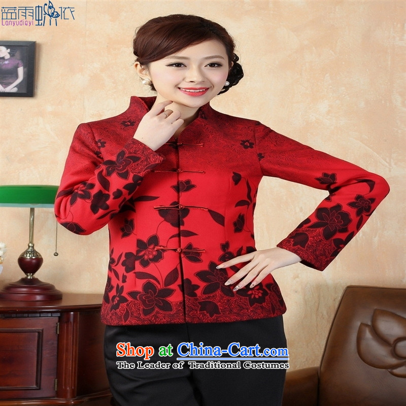 Tang dynasty qipao winter Tang Dynasty7red, L, blue rain butterfly according to , , , shopping on the Internet